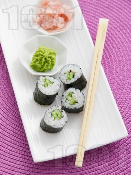Лесно суши за вегетарианци - снимка на рецептата